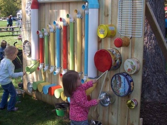 diy-outdoor-music-wall-ideas-for-kids