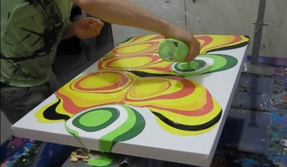 How to do fluid painting how to instructions for Canvas painting supplies