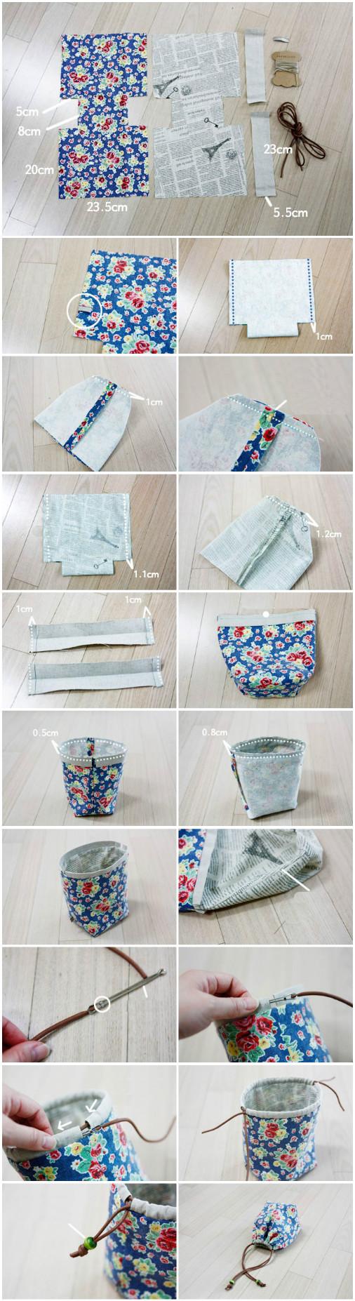 How To Make A Reversible Drawstring Bag 1