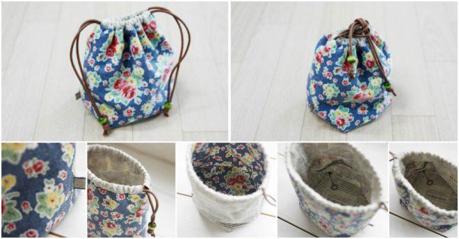 How To Make A Reversible Drawstring Bag 2