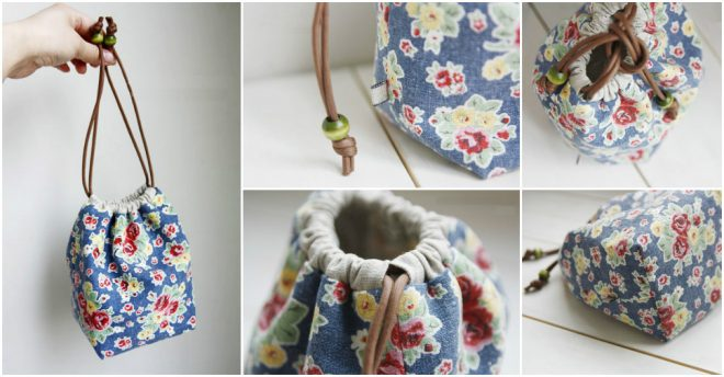 How To Make A Reversible Drawstring Bag 3