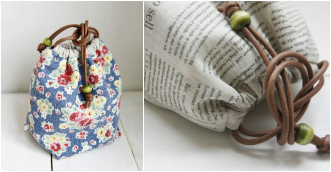 How To Make A Reversible Drawstring Bag