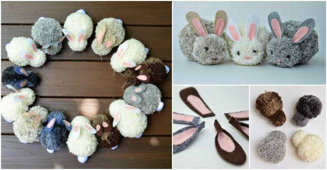 How To Make Cute Pom Pom Rabbits