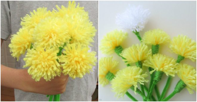 How To Make DIY Dandelion Bouquet 1