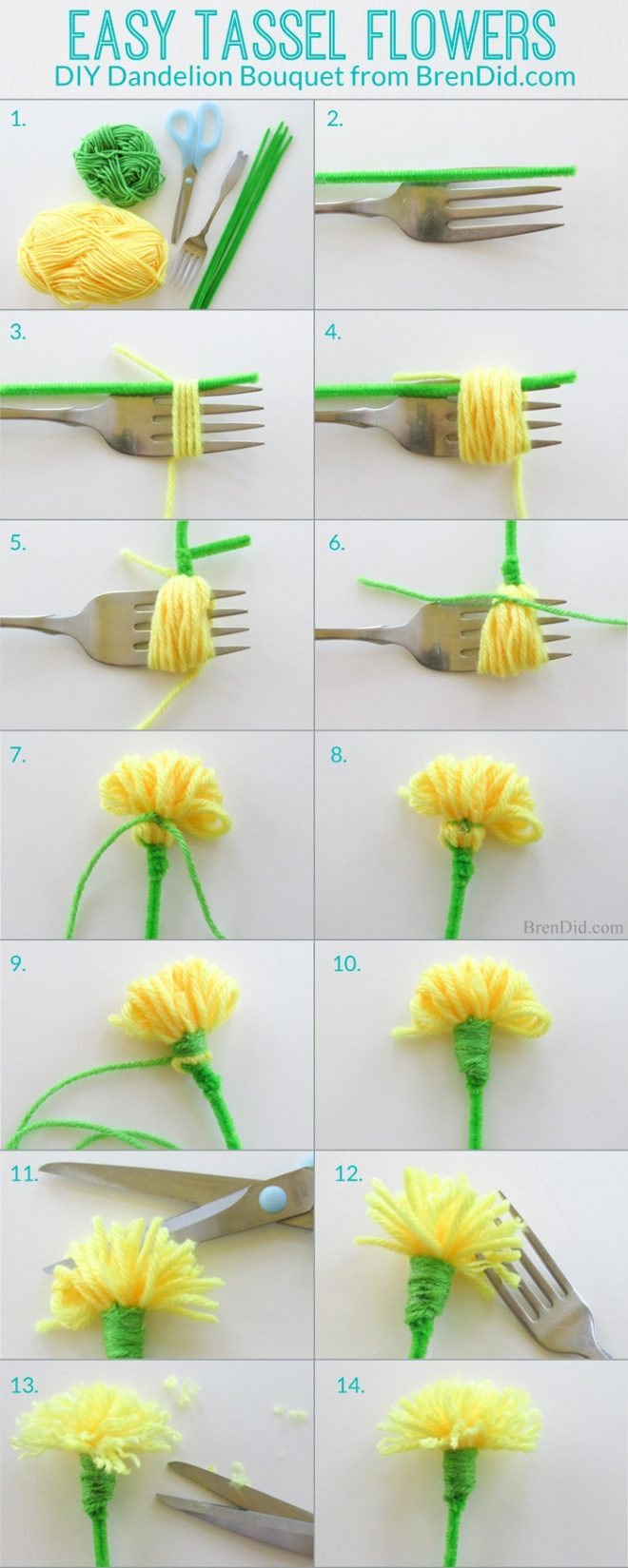 How To Make DIY Dandelion Bouquet