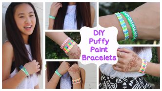 How To Make DIY Puffy Paint Bracelets
