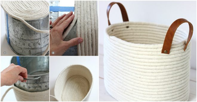 How To Make DIY Rope Coil Basket