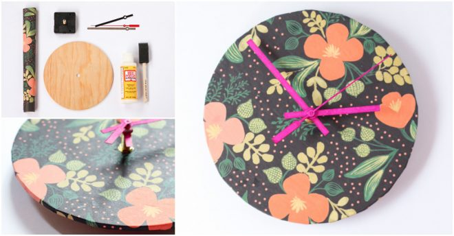 How To Make DIY Wrapping Paper Clock