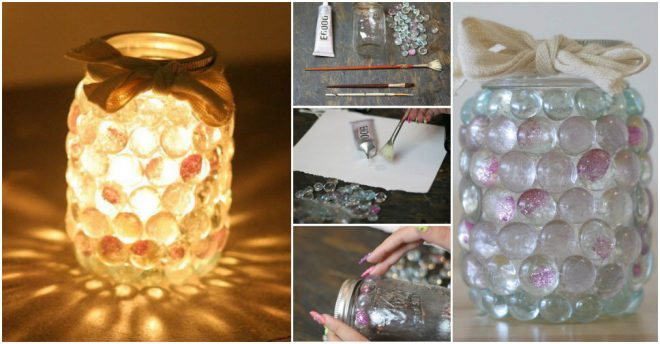 How To Make Mason Jar Prism Candle Lights