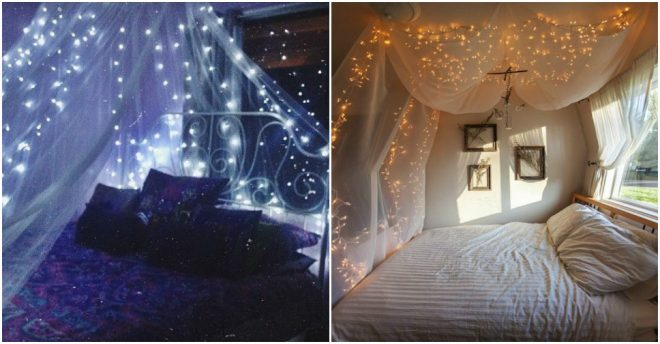 How To Make Starry Bed Canopy 1