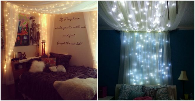 How To Make Starry Bed Canopy