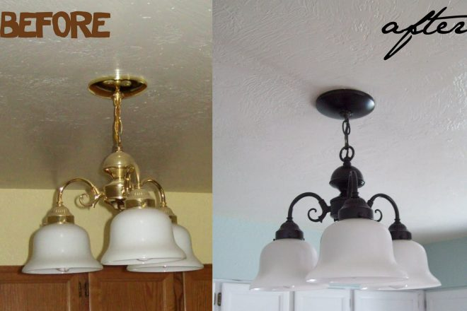 How To Makeover Lighting Fixture