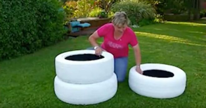 How To Turn Old Tires Into DIY Planters 1