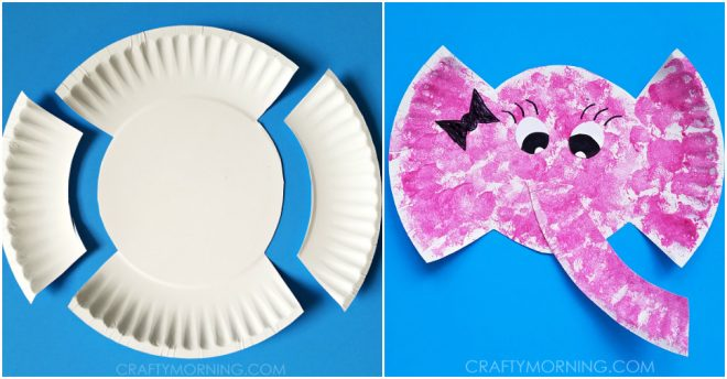 Paper Plate Elephant Craft For Kids