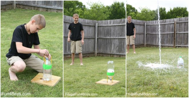 Science Experiments For Kids - Baking Soda And Vinegar Bottle Rocket