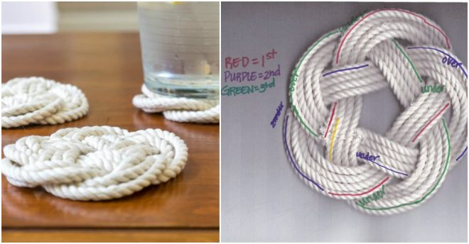 Turk's Head Knot Is Perfect For Coasters & Trivets