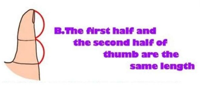 What Your Thumb Says About You B