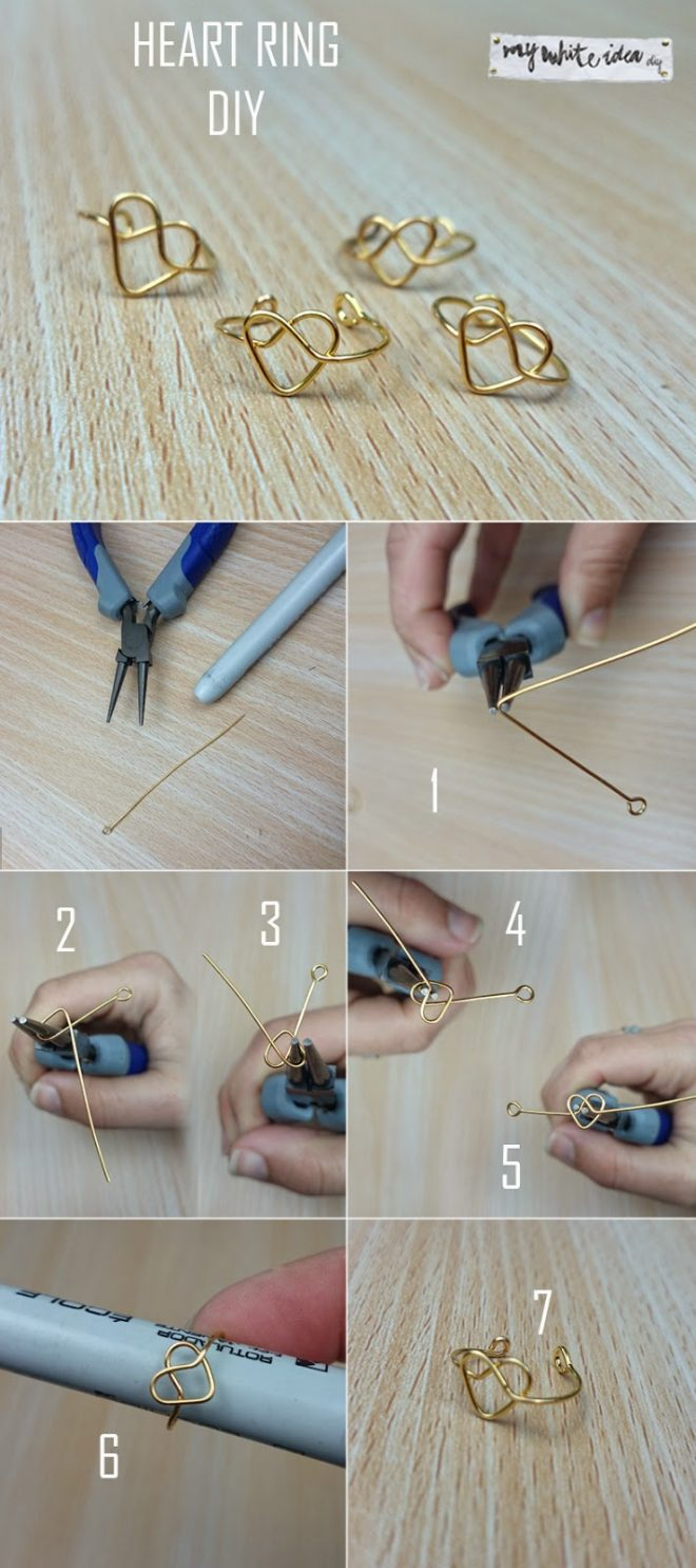 How To Make DIY Heart Ring 1