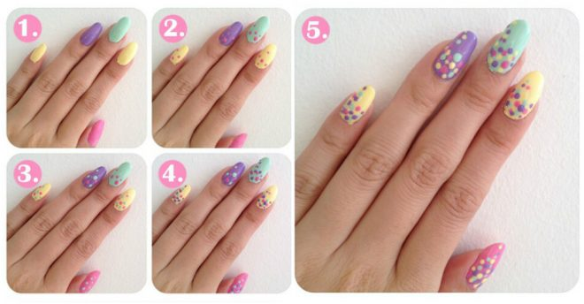Polka Dot Nail Art Tutorials How To Instructions