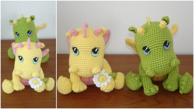 adorable-crochet-baby-dragons