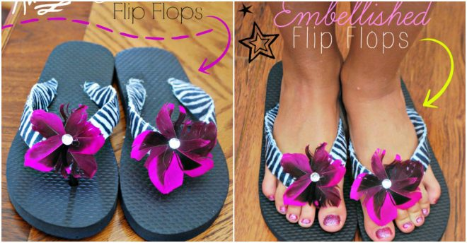 how-to-make-felt-embellished-flip-flops
