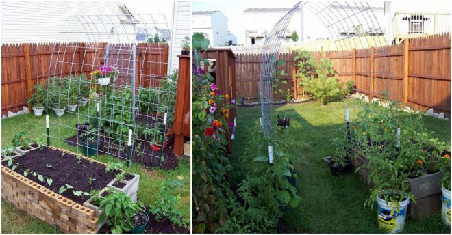 how-to-make-raised-garden-box-trellis-combo-2