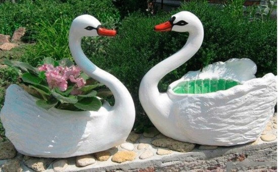 how-to-make-swan-planters
