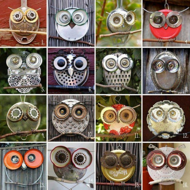 make-recycled-owl-art