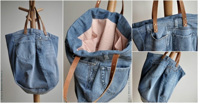 Old Jeans are great to be re purposed into a stylish bag. In this DIY Jean Bag  Tutorial ba07ad49ea6f5