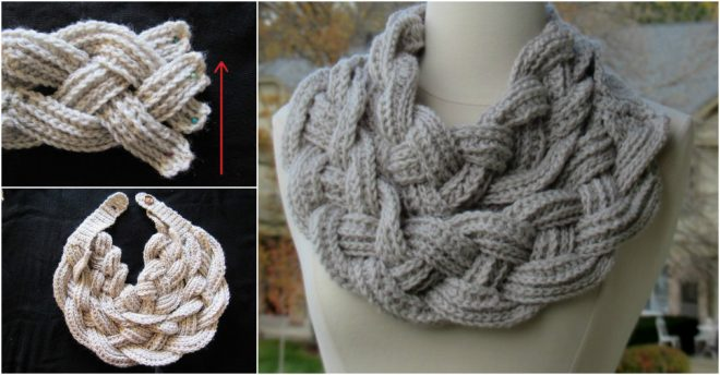 Double Layered Braided Cowl Free Crochet Pattern How To Instructions