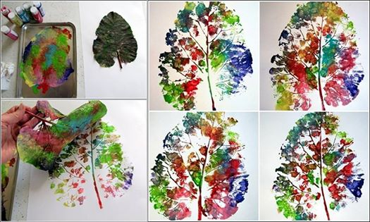 how-to-do-leaf-printing