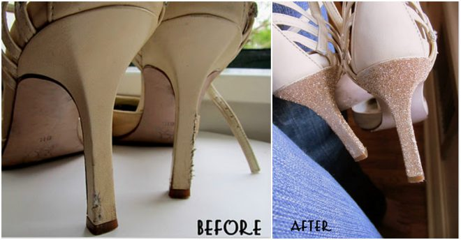 how-to-make-a-glitter-heel