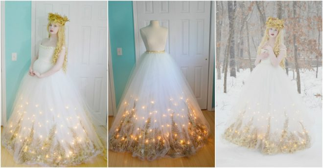 Today We Will Share With You How To Make A Light Up Dress This Is So Gorgeous It Hard Believe That Diy Project From An Eigh
