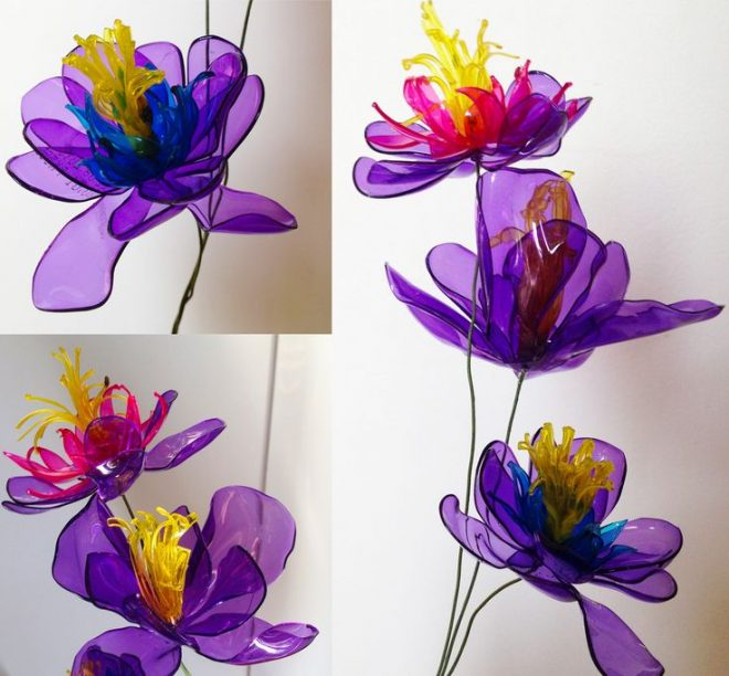 Making Craft Flowers With Plastic Bottles Are Quite Simple Scroll Down For Video Tutorials How To Turn Those Otherwise Waste Into Wonderful Home