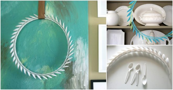how-to-make-plastic-spoon-laurel-wreath