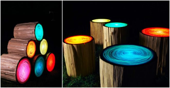 how-to-make-glow-in-the-dark-log-stools