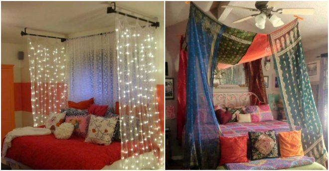how-to-make-diy-bed-canopy & How to make DIY bed canopy step by step tutorial instructions ...