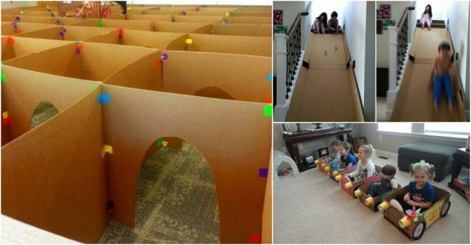 19 Fun Cardboard Box Crafts For Kids How To Instructions