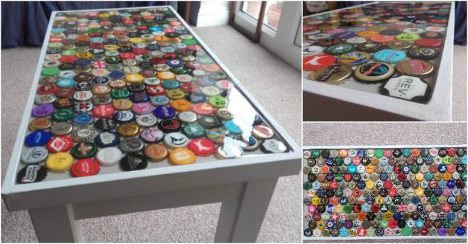 How to make a bottle cap table how to instructions for Instructions on how to build a table