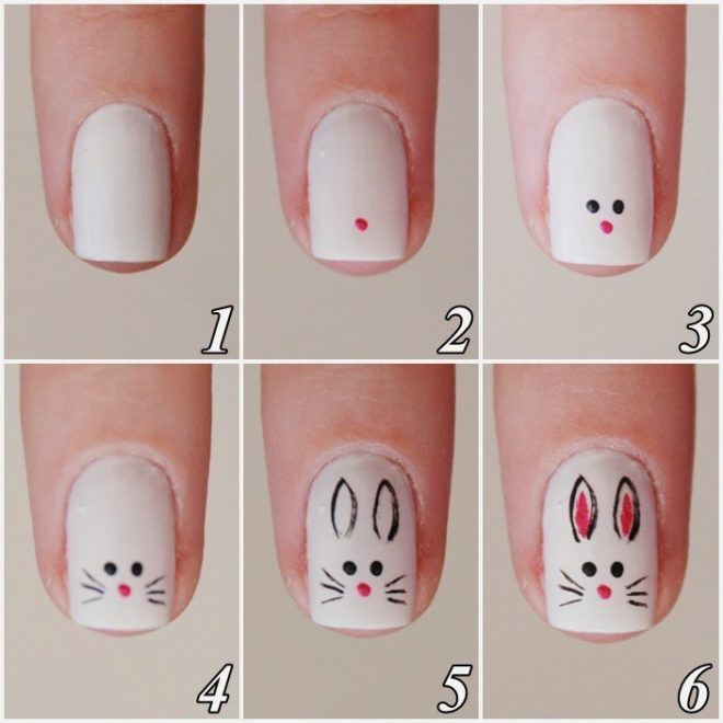 These bunny nails are so cute. They are great for such events as Easter.  And they are very easy to make to. Here is How To Make Cute Bunny Nail Art.  Just ... - How To Make Cute Bunny Nail Art How To Instructions