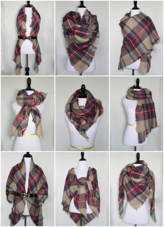 How To Tie A Blanket Scarf How To Instructions