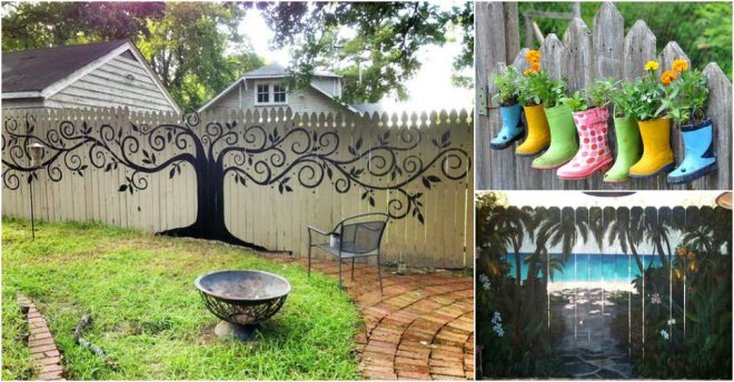 Incredible Ways To Decorate Your Garden Fence How To Instructions