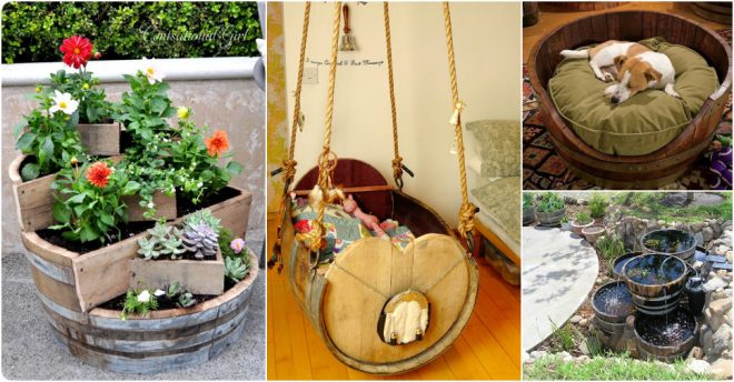 20 Awesome Ways To Reuse Old Wine Barrels How To Instructions