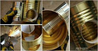 Step by step instructions on how to make everything part 39 for Tin can rocket stove