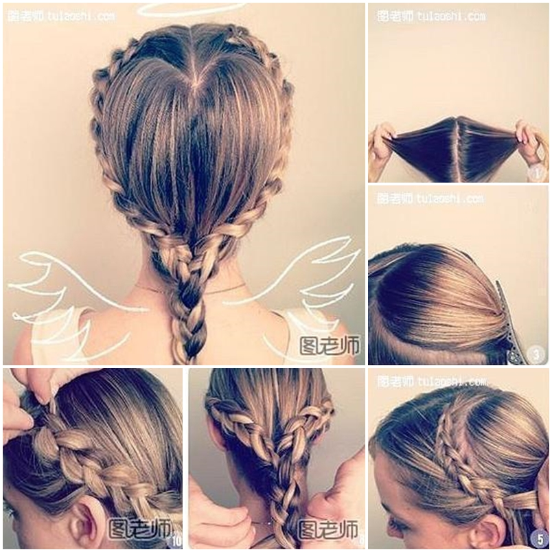 make the hair style how to make lovely hair style step by stey diy 5145 | How to make lovely angel hair style step by stey DIY instructions thumb