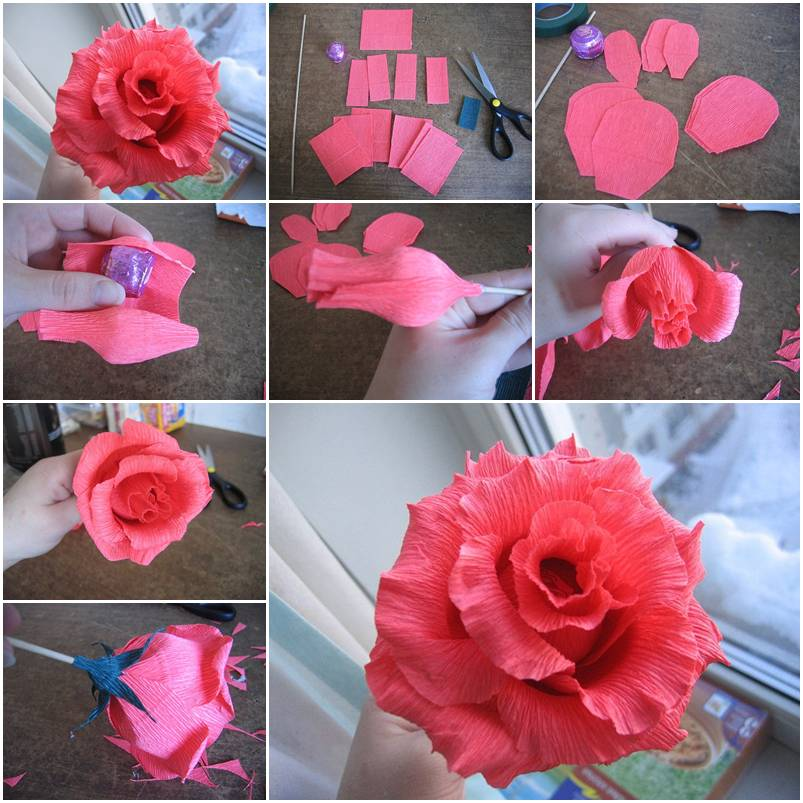Dorable paper ribbon flower making component best evening gown how to make paper ribbon flowers images flower decoration ideas mightylinksfo