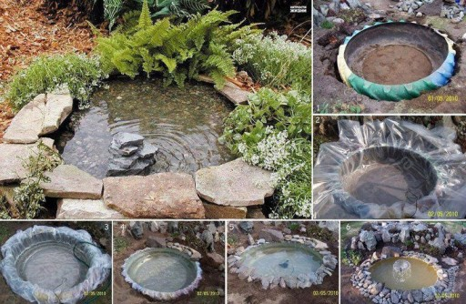 How to use used car tires to make garden landscaping water
