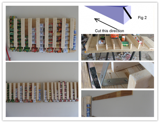How To Make Diy Canned Food Storage Rack Step By Tutorial