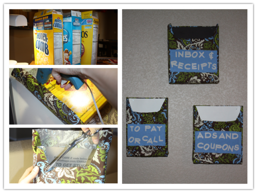 How To Make Convenient Diy Mail Organizer Wiit Recycled Cereal Bo Step By Tutorial Instructions