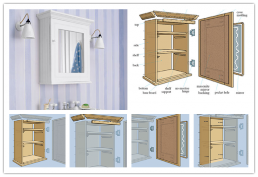 How To Build A Wall Mount Medicine Storage Cabinet Unit With Mirror Step By Diy